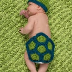 Turtle Newborn Photo Prop ~ Salena Baca - Red Heart