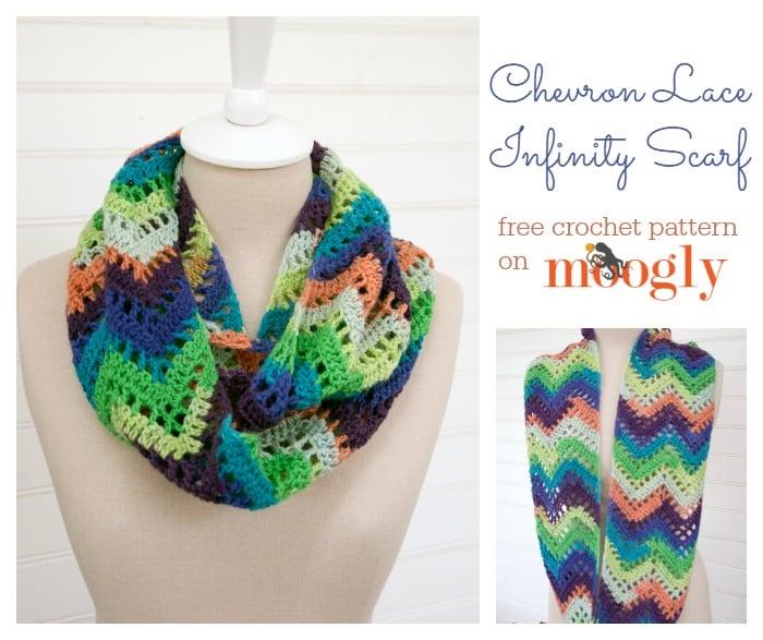 Chevron Lace Infinity Scarf ~ FREE Crochet Pattern