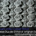 "Chinese Puzzle 8"" Afghan Block ~ Oombawka Design"