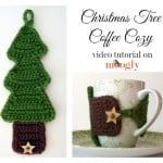 Christmas Tree Coffee Cozy Tutorial ~ Moogly