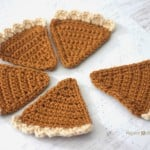 Crochet Pumpkin Pie Bunting ~ Repeat Crafter Me