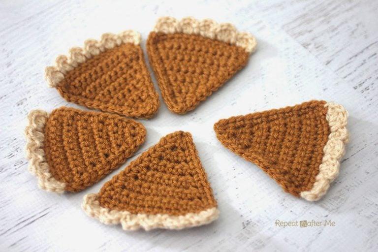 Crochet Pumpkin Pie Bunting ~ Repeat Crafter Me
