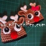 3 Months Raindeer's Beanie ~ Jennifer Gregory - Niftynnifer's Crochet & Crafts