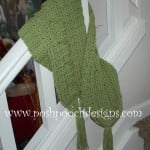 Green Meadows Cable Stitch Scarf ~ Sara Sach - Posh Pooch Designs