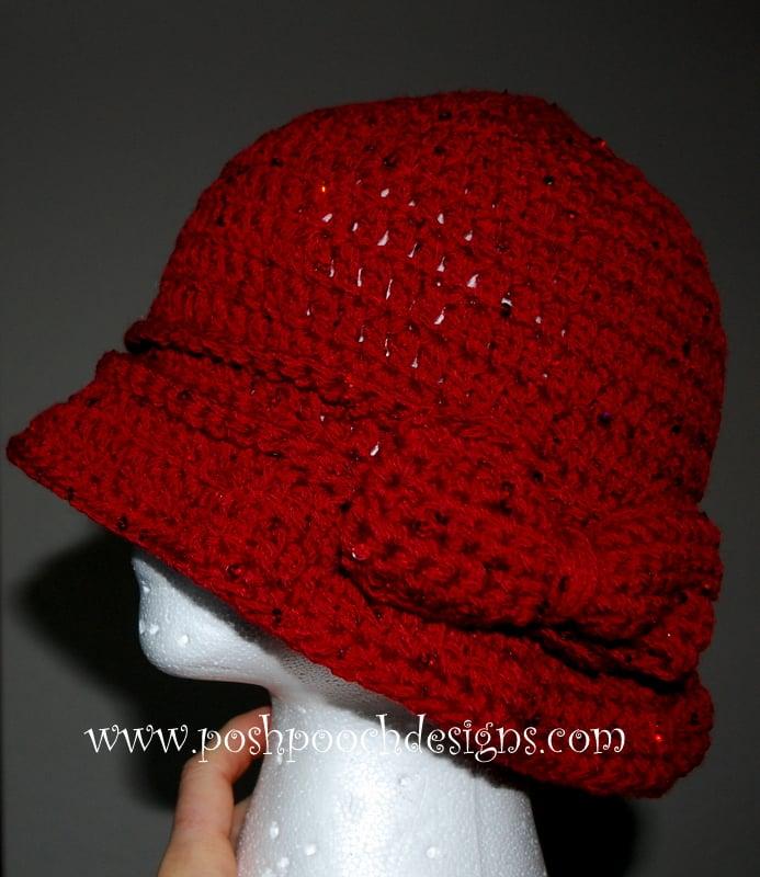 Sequin Ladies Hat ~ Sara Sach - Posh Pooch Designs
