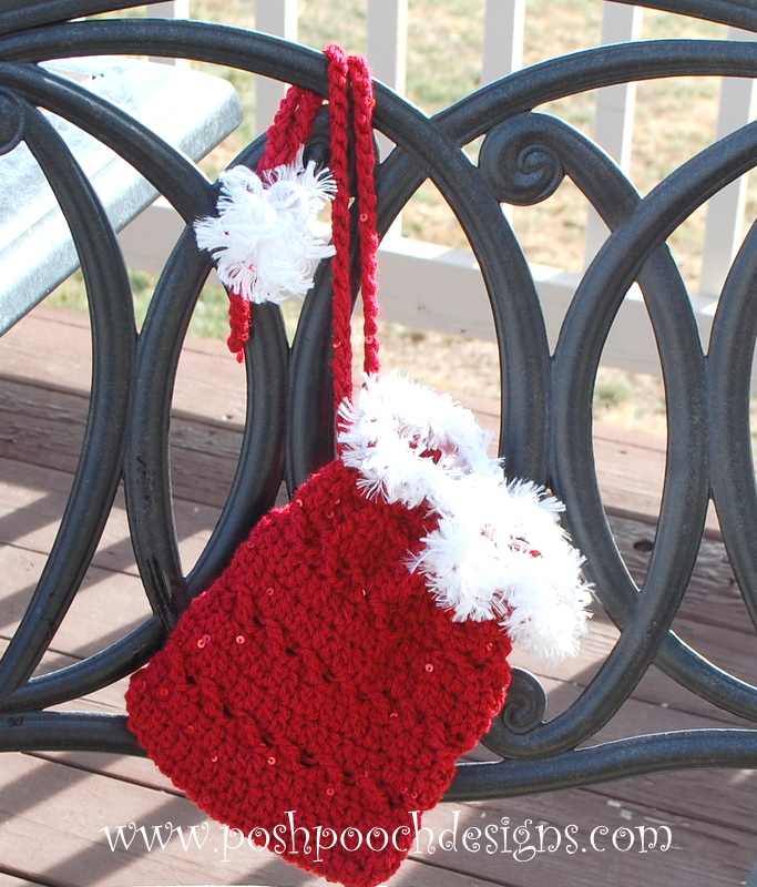 Christmas Sequin Gift Bag ~ Sara Sach - Posh Pooch Designs