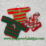 Mini Sweater Ornaments ~ Sara Sach - Posh Pooch Designs