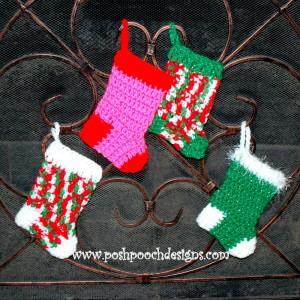 Mini Christmas Stockings ~ Sara Sach - Posh Pooch Designs