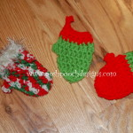 Mini Mitten Christmas Tree Ornaments ~ Sara Sach - Posh Pooch Designs