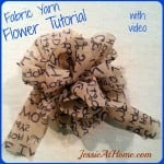Fabric Yarn Flower ~ Jessie At Home