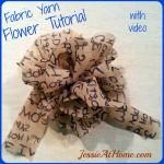 Fabric Yarn Flower ~ Jessie At Home