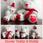 Snowy Teddy and Daddy ~ Be A Crafter xD