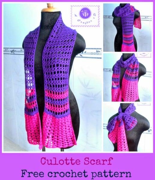 Crochet Culotte Scarf ~ Maz Kwok's Designs