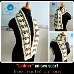 Crochet Ladder Unisex Scarf ~ Maz Kwok's Designs