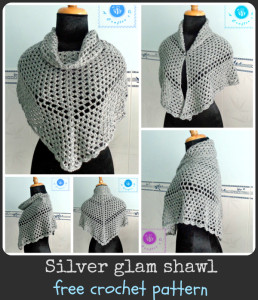Crochet Silver Glam Shawl ~ Maz Kwok's Designs