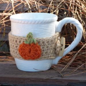 Pumpkin Mug Cozy ~ Amy Lynn Yarbrough - Crochet Spot