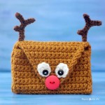 Crochet Reindeer Pouch ~ Repeat Crafter Me