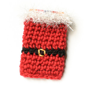 Santa Crochet Gift Card Holder ~ Petals to Picots