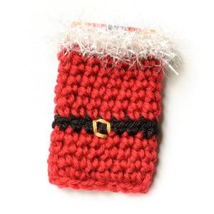 Santa Crochet Gift Card Holder ~ Petals to Picots