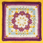Floral Kaleidoscope Afghan Square ~ Gleeful Things
