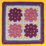 Flowers In The Window Afghan Square ~ Gleeful Things