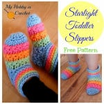 Starlight Toddler Slippers ~ My Hobby is Crochet
