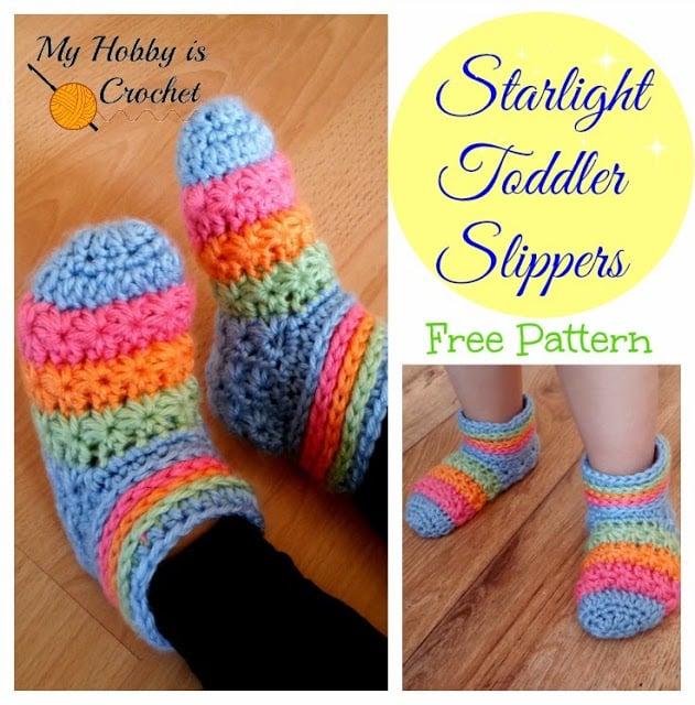 Starlight Toddler Slippers ~ My Hobby is Crochet