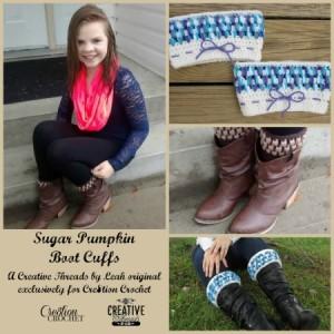 Sugar Pumpkin Boot Cuffs ~ Cre8tion Crochet