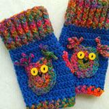 How To Crochet Fingerless Owl Gloves ~ Jane Green - Beautiful Crochet Stuff