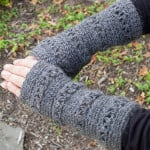 V-Stitch Wristwarmer ~ Petals to Picots