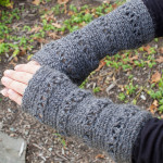 V-Stitch Wristwarmer ~ Petals to Picots