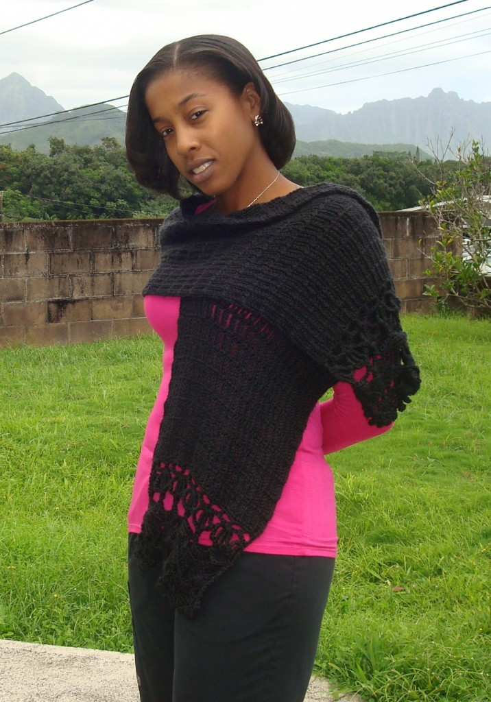 The Crocheted Scarf that Was Supposed to Be a Shawl ~ Yarn Over Pull Through