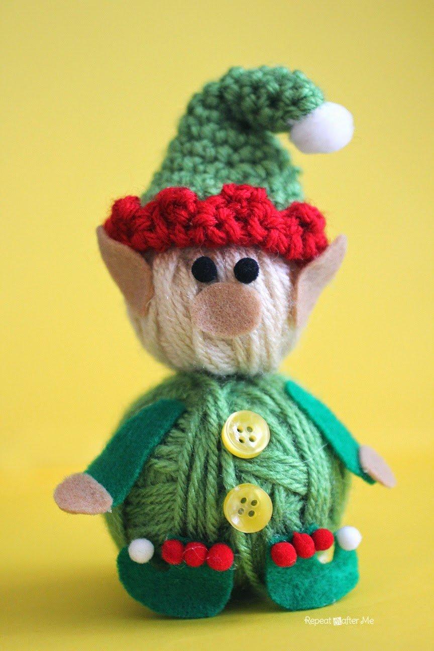 Free Knitting Pattern For Elves : Yarn Ball Elf ~ Free Crochet Pattern