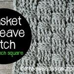 Basket Weave Stitch 8 Inch Afghan Square ~ Oombawka Design