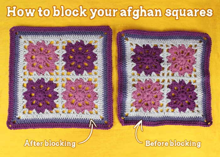 How to Block Your Afghan Squares ~ Gleeful Things