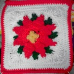 Bonnie's Poinsettia Afghan Square ~ Crochet 'N' More