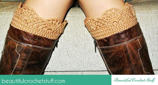 How to Crochet a Boot Cuff ~ Jane Green - Beautiful Crochet Stuff