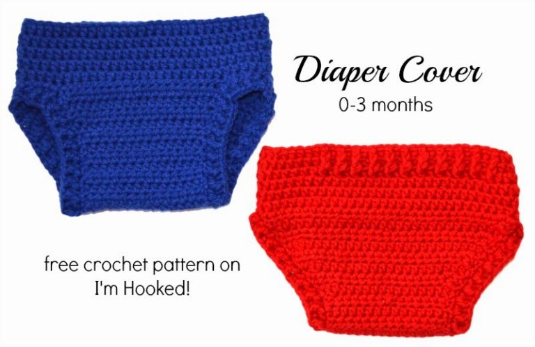 Crochet Diaper Cover - 0-3 Months ~ Crochet Treasures