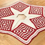 Crochet Christmas Tree Skirt – Part 1: The Grannies ~ Petals to Picots