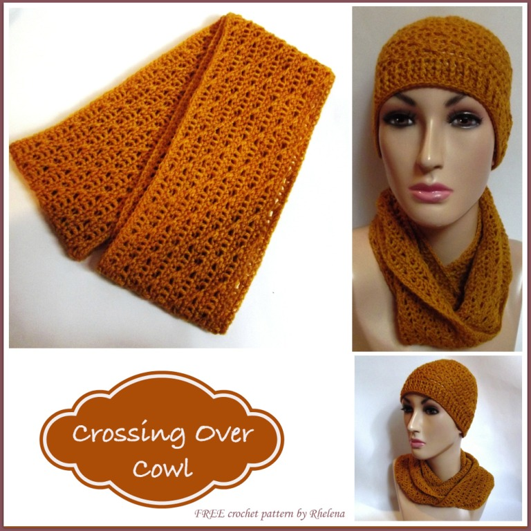 Crossing Over Cowl ~ CrochetN'Crafts