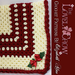 Christmas Holly Baby Blanket ~ The Lovely Crow
