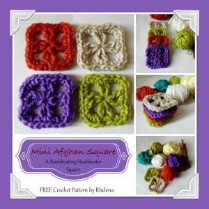 Mini Afghan Square ~ Rhelena - CrochetN'Crafts