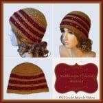 Ribbings of Gold Beanie ~ Rhelena - CrochetN'Crafts