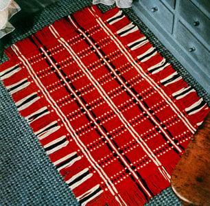 Home Sweet Home Rug ~ FREE Vintage Crochet
