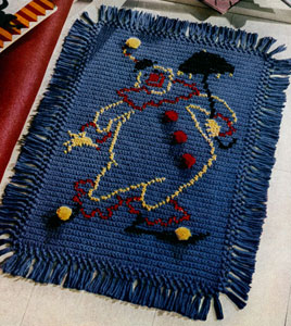 Happy the Clown Rug ~ Free Vintage Crochet