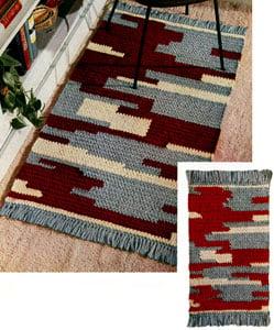 Cliff Dweller Rug ~ Free Vintage Crochet