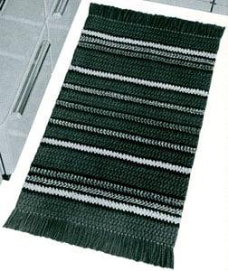 Regimental Stripes Rug ~ Free Vintage Crochet