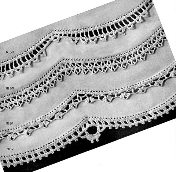 Crochet Trousseau Edging Patterns ~ Free Vintage Crochet