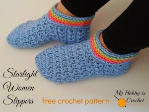 Starlight Women Slippers ~ My Hobby is Crochet