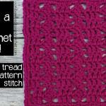 8×8 Tread Pattern Stitch Afghan Block ~ Oombawka Design